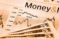 Rekeningen en grafiek Royalty-vrije Stock Fotografie
