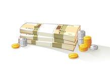 Rekeningen van Russische geld en metaalmuntstukken royalty-vrije illustratie