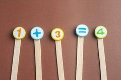 Rekenkundig Toy Numbers Stock Afbeelding