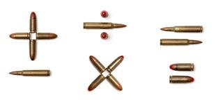 Rekenkundige tekens die van geïsoleerder patronen worden gemaakt Royalty-vrije Stock Afbeelding