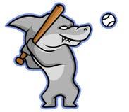 Rekin Baseballer Ilustracja Wektor