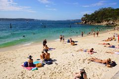 Rekin plaża, Nielsen park, Vaucluse, Sydney, Australia zdjęcia stock