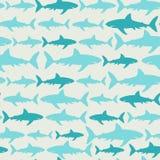 Rekinu bezszwowy wzór Obraz Royalty Free