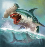 Rekinu młot ilustracja wektor