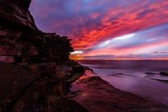 Rekinu punkt przy wschodem słońca Fotografia Royalty Free