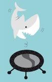 rekinu skokowy trampoline Obrazy Royalty Free
