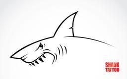 Rekinu tatuaż royalty ilustracja