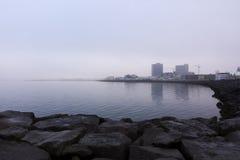 Rekjavik waterfront, Iceland Royalty Free Stock Images