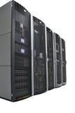 Rekken in een datacenter stock foto's