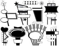 reklama 9 retro znaków ilustracja wektor