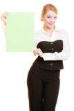 Reklama Bizneswomanu mienia pustego miejsca kopii przestrzeni sztandar zdjęcie stock