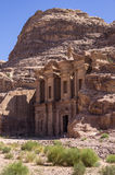 Reklama Deir monaster świątynia Petra fotografia stock