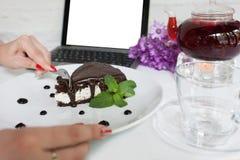 Reklama handlu elektronicznego blogu posiłku karmowy pojęcie zdjęcie royalty free