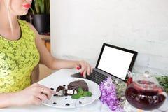 Reklama handlu elektronicznego blogu posiłku karmowy pojęcie zdjęcia royalty free