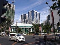 Reklama i budynki mieszkalni przy Ortigas kompleksem Zdjęcie Royalty Free