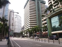 Reklama i budynki mieszkalni przy Ortigas kompleksem Zdjęcie Stock