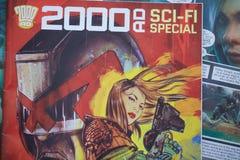2000 reklama komiksu pokrywa ilustracja wektor