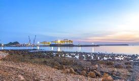 Reklama port Obraz Royalty Free