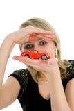 reklama samochód ekonomicznej kobiet Obraz Royalty Free