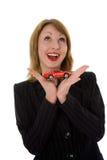 reklama samochód ekonomicznej kobiet Zdjęcie Stock
