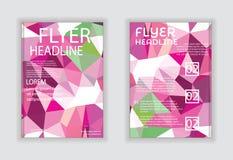 Reklamblad- & affischdesign i mall för format A4 Arkivbilder