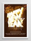 Reklamblad, baner eller broschyr för nytt år Royaltyfri Bild
