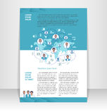 Reklamblad broschyr, häfteorientering Redigerbar designmall Fotografering för Bildbyråer