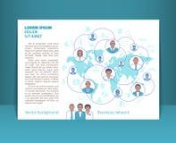 Reklamblad broschyr, häfteorientering Redigerbar designmall A5 Arkivbilder