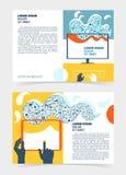 Reklamblad broschyr, häfteorientering Redigerbar designmall A5 Royaltyfri Foto