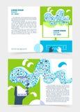 Reklamblad broschyr, häfteorientering Redigerbar designmall A5 Royaltyfri Fotografi