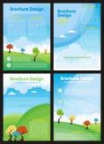 Reklamblad - broschyr med tecknad filmstil vektor illustrationer