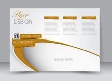 Reklamblad broschyr, riktning för landskap för design för tidskrifträkningsmall Royaltyfri Fotografi