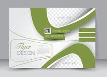 Reklamblad broschyr, riktning för landskap för design för tidskrifträkningsmall Arkivbild