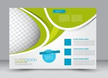Reklamblad broschyr, riktning för landskap för design för tidskrifträkningsmall Arkivfoton