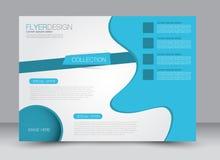 Reklamblad broschyr, riktning för landskap för design för tidskrifträkningsmall Royaltyfri Foto