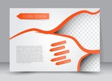 Reklamblad broschyr, riktning för landskap för design för tidskrifträkningsmall Arkivbilder