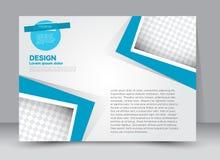 Reklamblad broschyr, riktning för landskap för design för tidskrifträkningsmall Arkivfoto