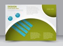 Reklamblad broschyr, riktning för landskap för design för tidskrifträkningsmall Royaltyfri Bild