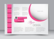 Reklamblad broschyr, riktning för landskap för design för tidskrifträkningsmall Fotografering för Bildbyråer