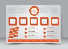 Reklamblad broschyr, riktning för landskap för design för tidskrifträkningsmall stock illustrationer