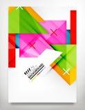 Reklamblad broschyrdesignmall Arkivfoto