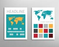 Reklamblad broschyrdesignmall vektor illustrationer