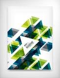 Reklamblad broschyrdesignmall, orientering Arkivfoton