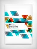 Reklamblad broschyrdesignmall, orientering Arkivbilder