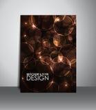 Reklamblad- eller broschyrdesign Royaltyfria Foton