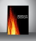 Reklamblad- eller broschyrdesign Arkivbild