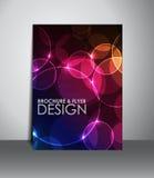 Reklamblad- eller broschyrdesign Royaltyfria Bilder