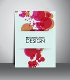Reklamblad- eller broschyrdesign Royaltyfri Fotografi