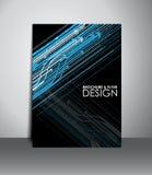 Reklamblad- eller broschyrdesign Arkivfoto