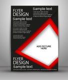 Reklamblad- eller räkningsdesign - affärsvektor för att publicera, tryck och presentation Arkivfoton
